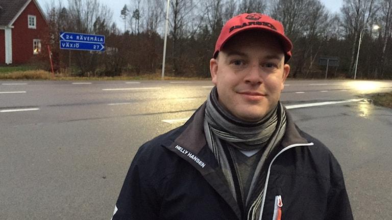 Andreas Grügiel, ordf föräldraföreningen i Nöbbele. Foto: Peje Johansson/Sveriges Radio