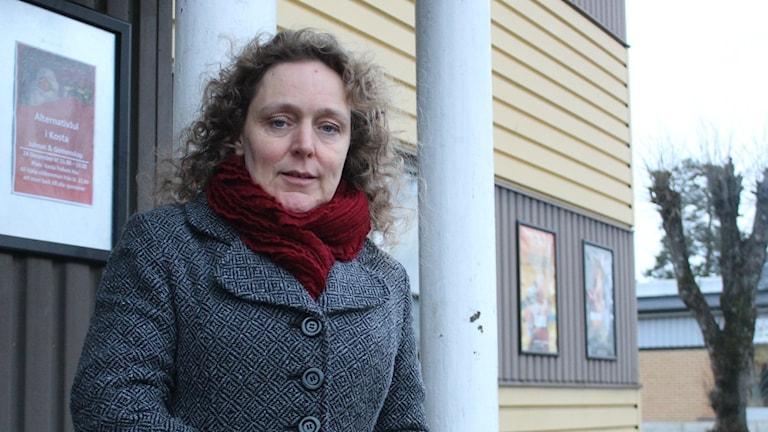 Claudia Schlich från Kosta. Foto: Karin Ernstsson/Sveriges Radio