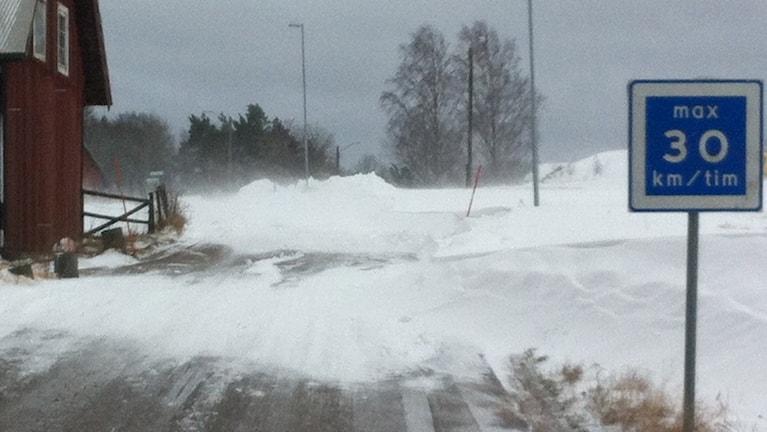 Bild på snöväg