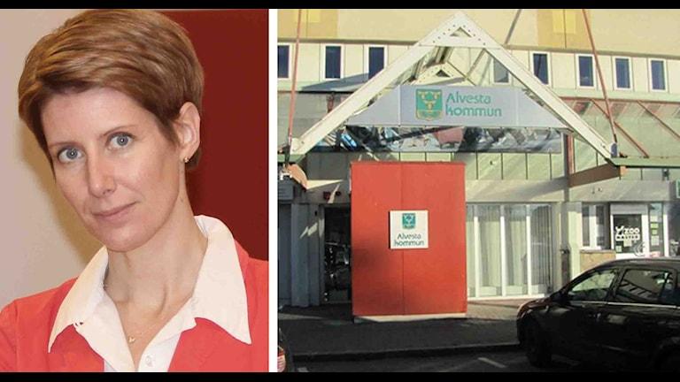 Suzanne Karlsson och Alvesta kommunhu´s.
