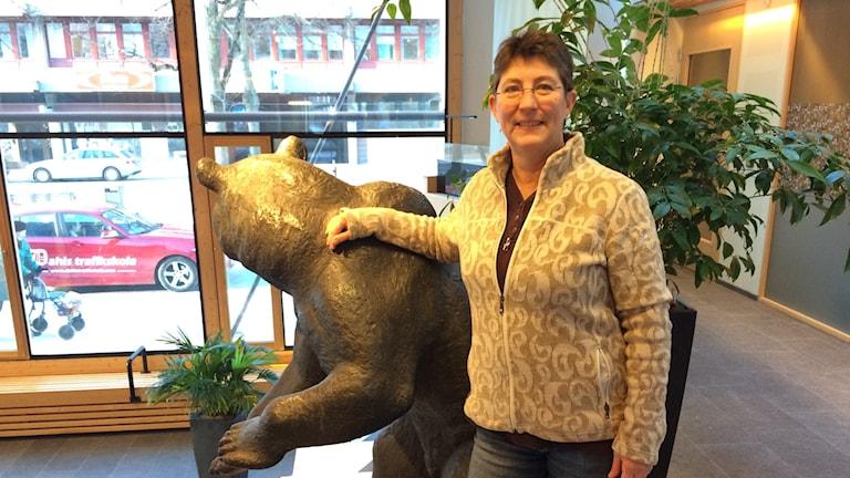 Cheryl Jones Fur vill få ner bilresorna i Växjö. FOTO: Lars-Peter Hielle