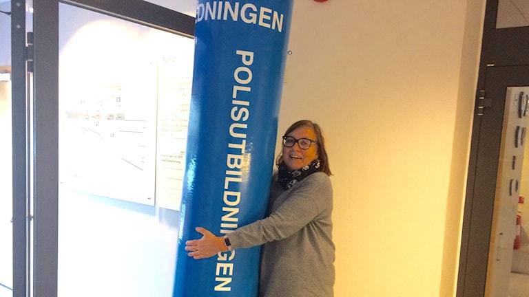 Betty Rohdin gör plats för fler polisstudenter på Linnéuniversitetet. Foto: Lars-Peter Hielle