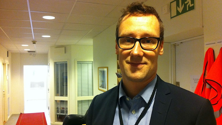 Magnus Petersson på Migrationsverket i Alvesta. Foto: Anneli Koskinen