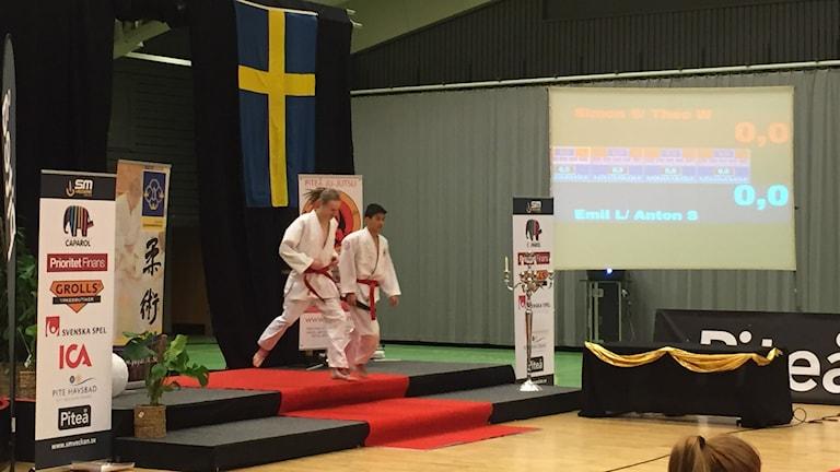 Theo Wik och Simon Sjödin på prispallen.