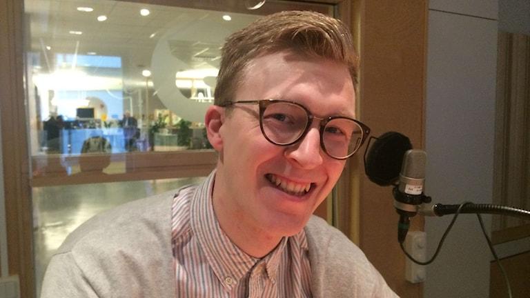 Pontus Samuelsson, mellofan. Foto: Anne Marchal/Sveriges Radio