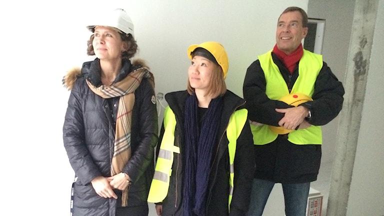 Kicki Rundbäck, Linda Nielsen och Mikael Palmgren.