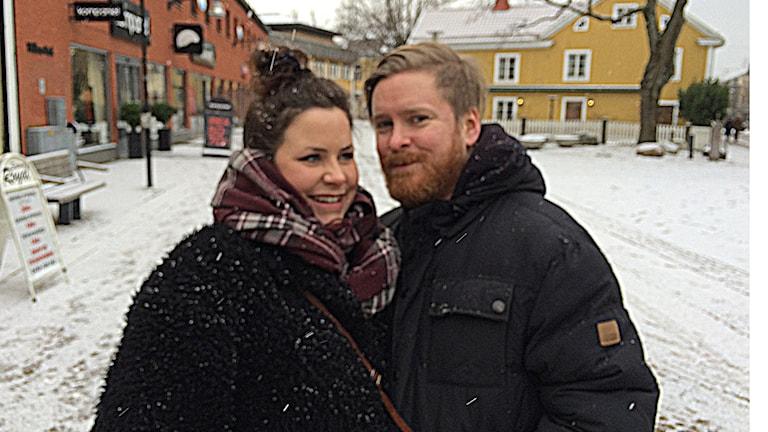 Paret Klara och Henrik på Storgatan i Växjö