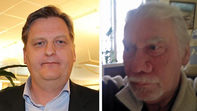 Per Schöldberg (C), ordförande i Växjöbostäder och Stig-Åke Gustavsson.