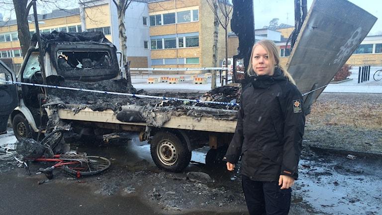 Emma Stenius, brandman