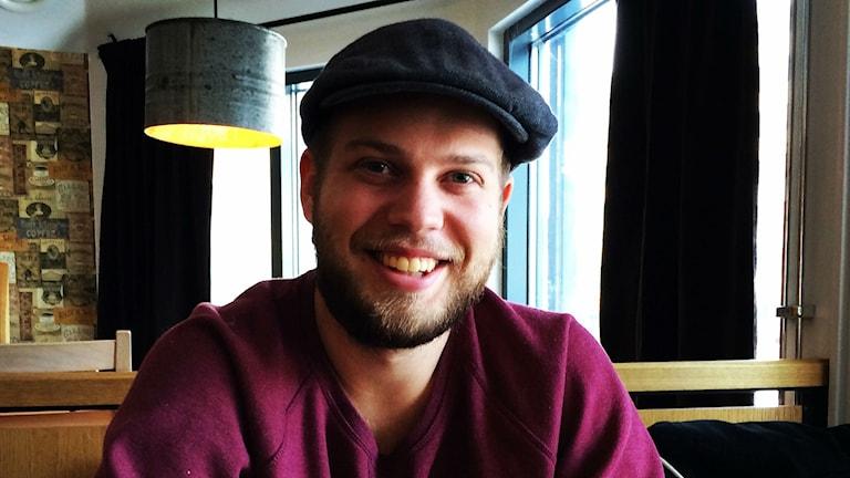 Oskar Solling från Ljungby var volontär i Kenya ett halvår. Foto: Carina Bergqvist/Sveriges Radio