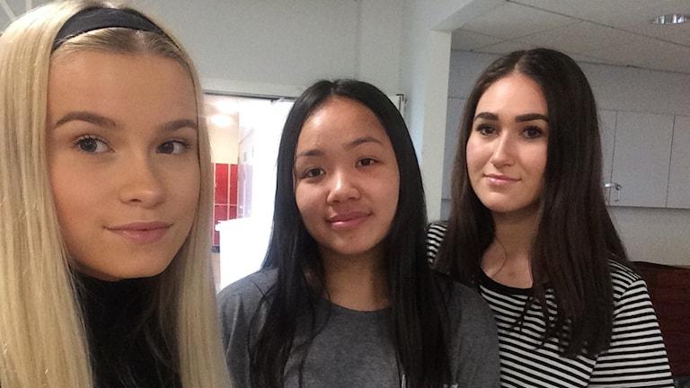 Eleverna Alma Söderberg, Karin Forslund och Diana Pelin som P4 Kronoberg träffar i korridorerna bekräftar bilden som kuratorerna ger.