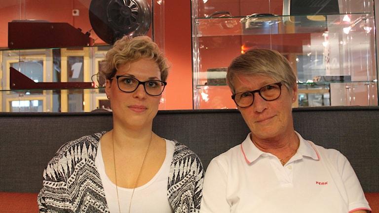 Kuratorerna Ann-Kristin Kärrman och Anni Ingelskog