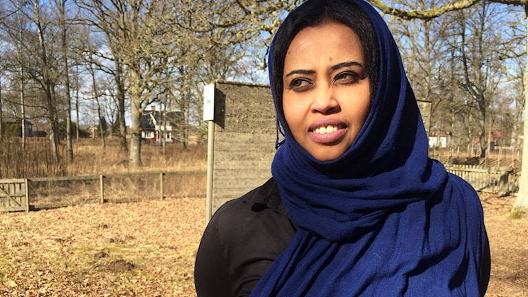 Mona Ali en av många som fruktar nya hårda regler för personer som flyr till Sverige. Foto: Lars-Peter Hielle