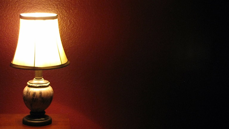 En lampa lyser