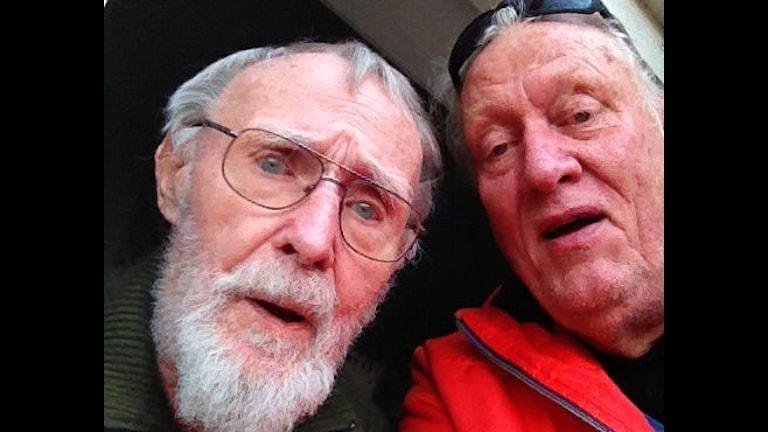 Selfie med Ingvar Kamprad och Stig Prebéus dagen före 90-års dagen. Foto: Stig Prebeus