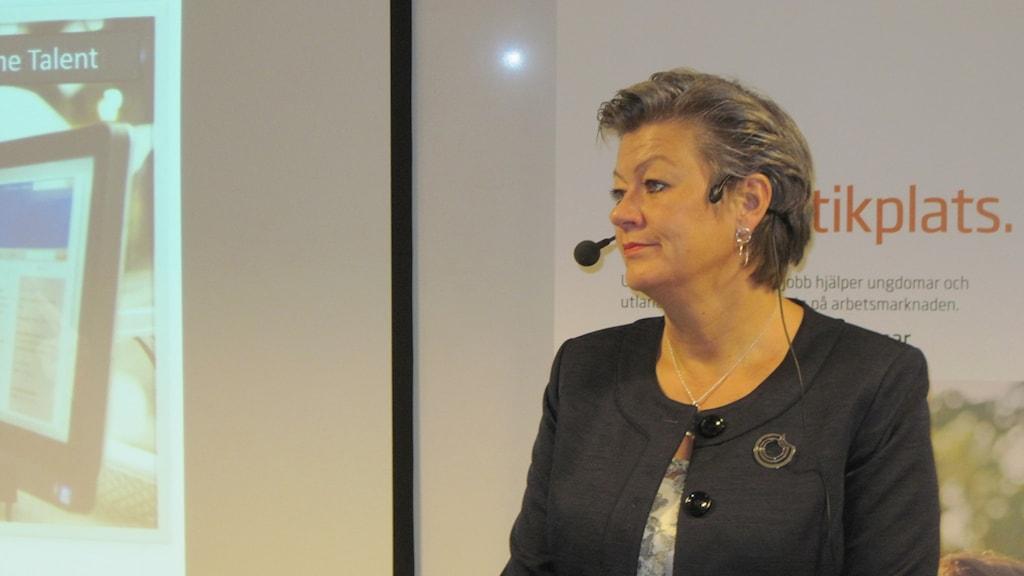 Ylva Johansson, arbetsmarknadsminister.
