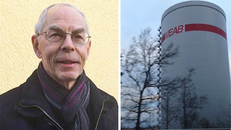 Bertil Närenbäck och en klippt bild på Veab.