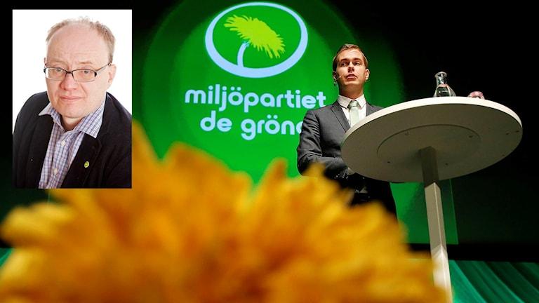 En inklippt bild på Michael Öberg