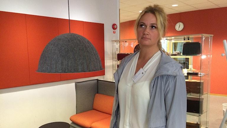Maria Stansert är socialdemokratisk politiker i Ljungby i bild.