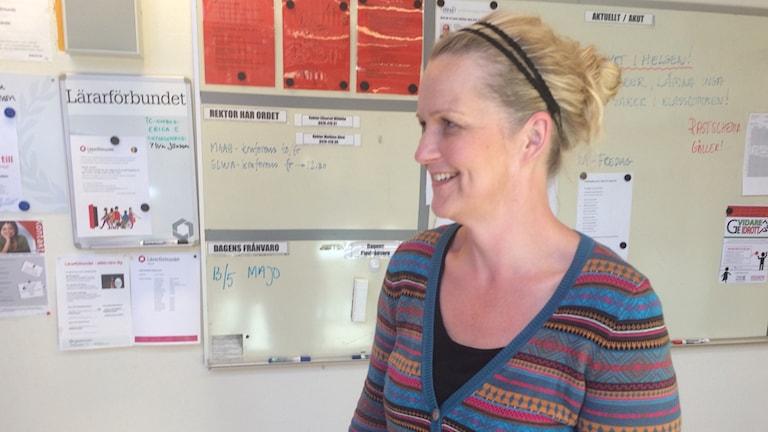 Högstadieläraren Erika Evertsson.