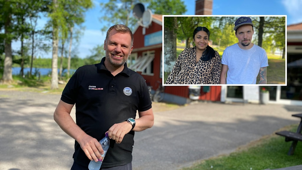 Miriam Hagberg och Johnny Elm på Evedals camping och Jonas Olsson, Sjöstugans camping i Älmhult.
