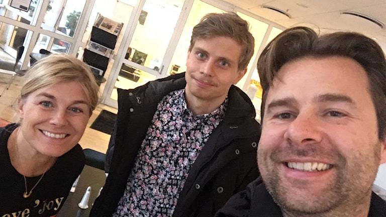 Pernilla Wahlgren ihop med radiostjärnorna Jonathan och Lars-Peter