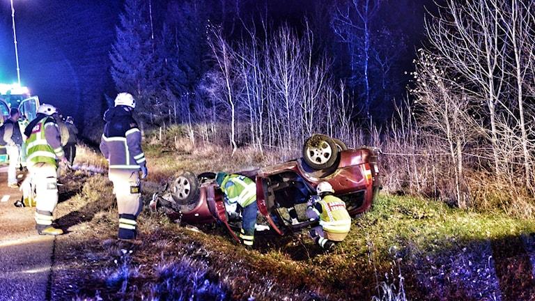 Olyckan skedde på länsväg 126 mellan Vislandas södra infart och Gottåsa.