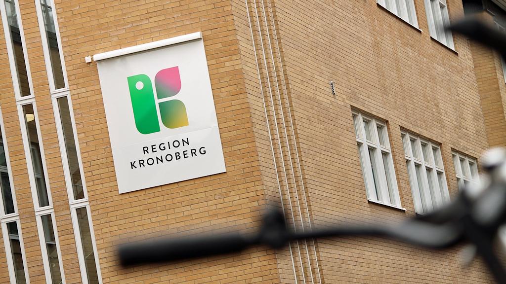 Region Kronoberg, skylt, Växjö