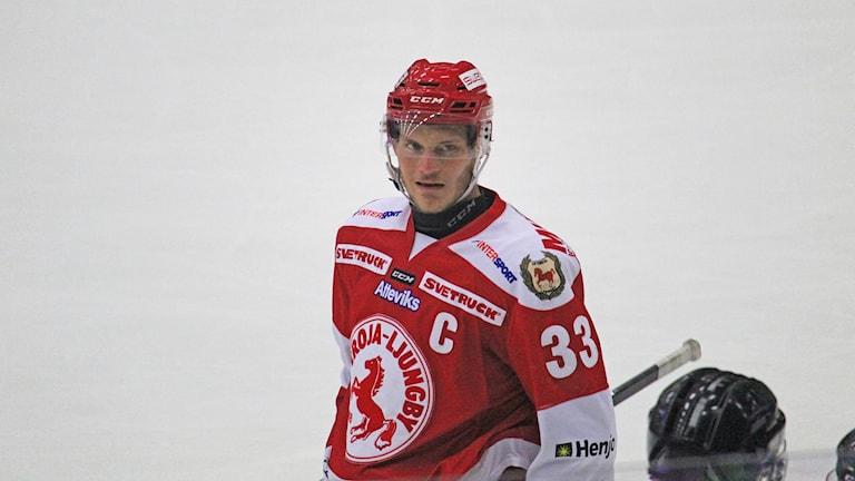 """Troja/Ljungby 2018/2019, Daniel """"Trucken"""" Karlsson, neutral bild"""