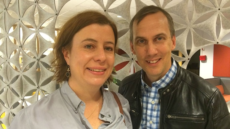 Katja Magnusson och Johan Bergendorff. Foto: Anne Marchal/Sveriges Radio
