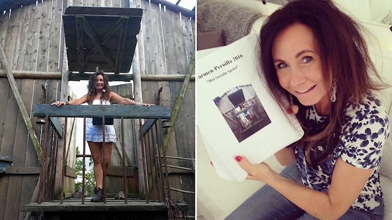 Pernilla Wallette har skrivit en bok om Farmen