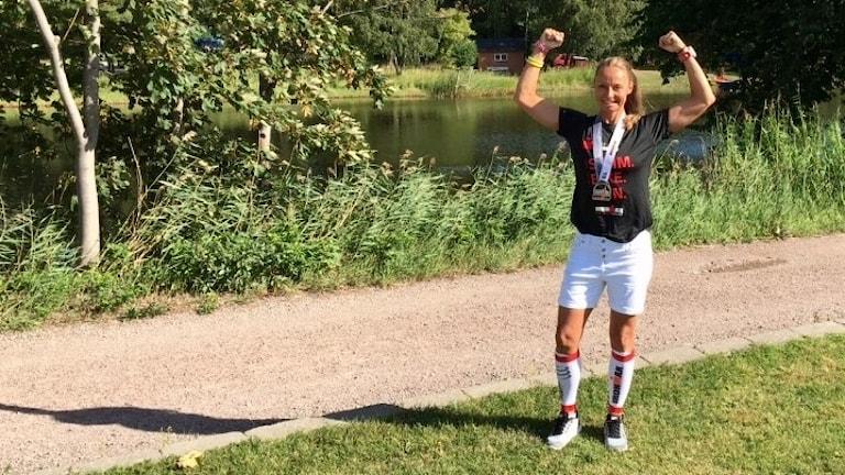 """Jane """"Ironman"""" Nilsson från Markaryd."""
