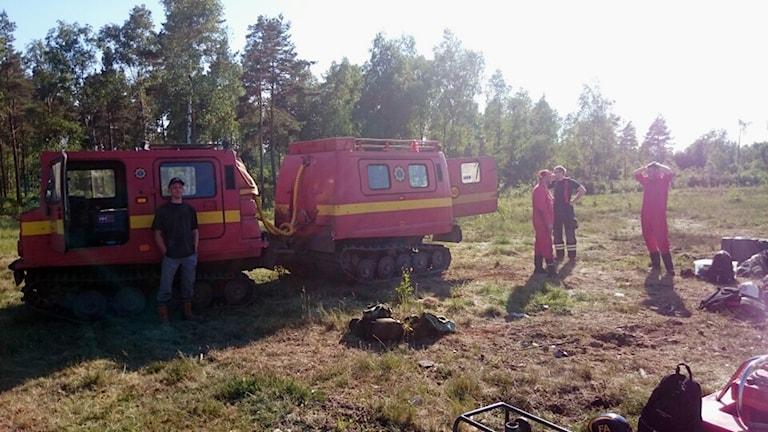 Skogsbrand Fettjemosse