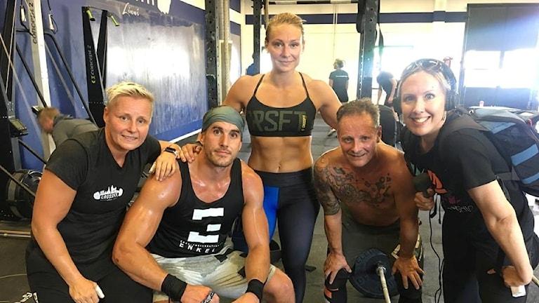 Tränade människor i ett gym i Växjö.