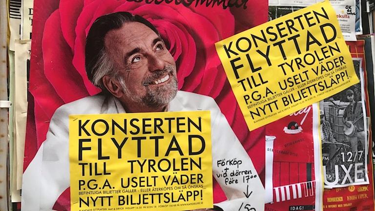 Rickard Wolffs konsert flyttad pga. uselt väder