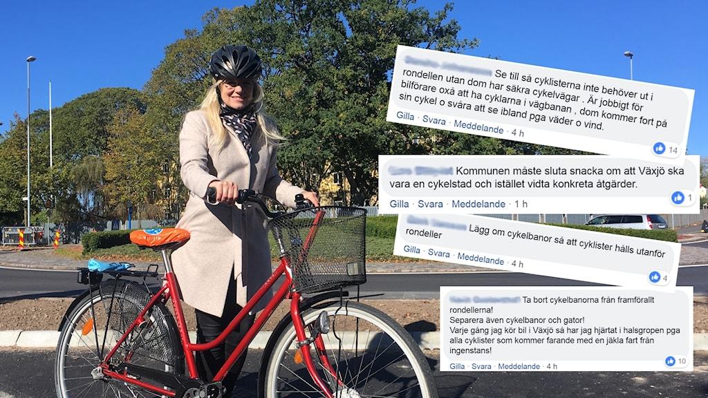Sofia Stynsberg med kommentarer från Facebook