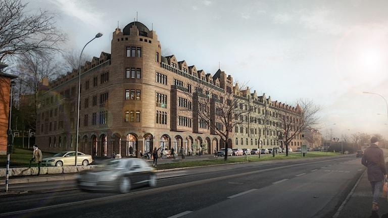 En bild över Björn Sundebys planerade storbygge