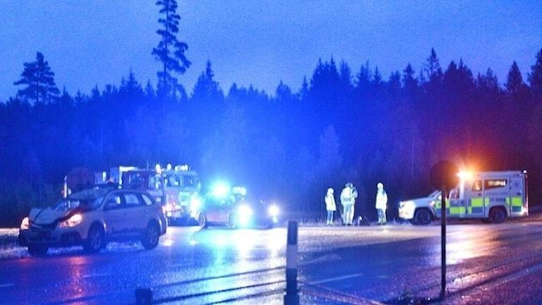 Olycka med bil i Skåteryd
