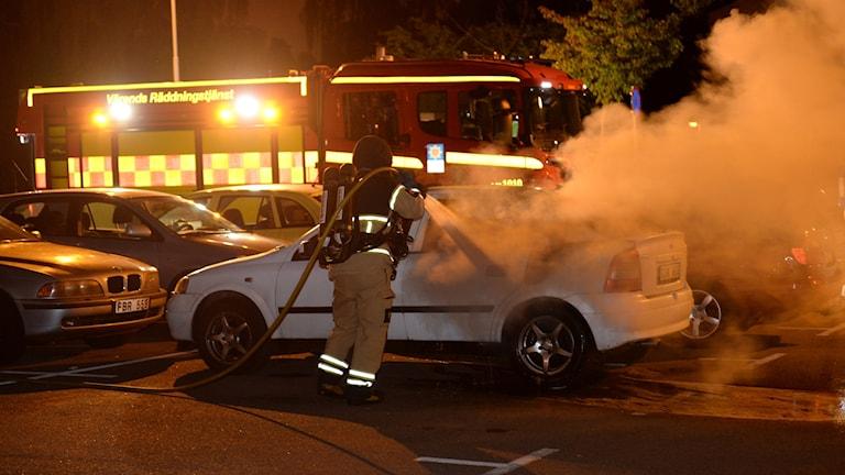 Bilbrand på Araby