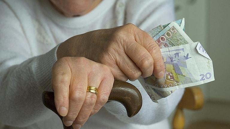 Pensionär med pengar.