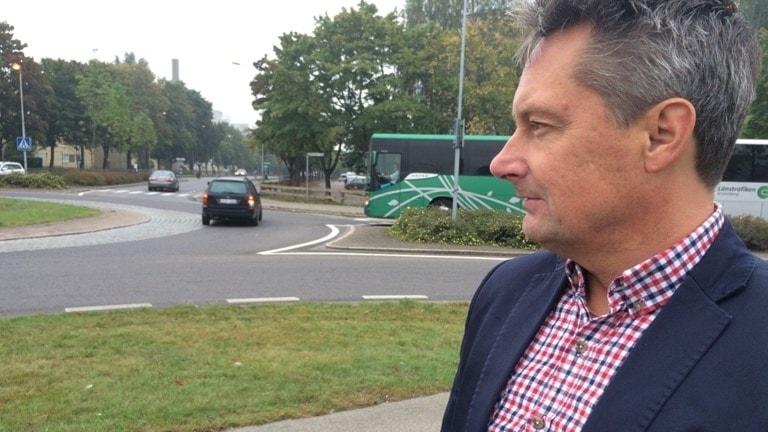 Per-Olof Löfberg trafikplaneringschef i Växjö kommun. Foto: Lars-Peter Hielle/ Sveriges Radio