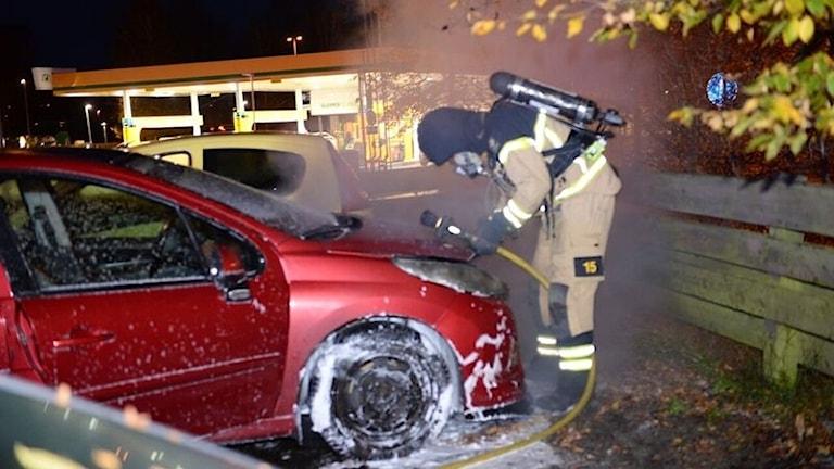 Bildbrand i Växjö.