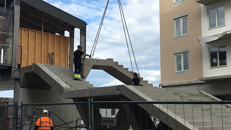 Trappa gång och cykelbro Växjö