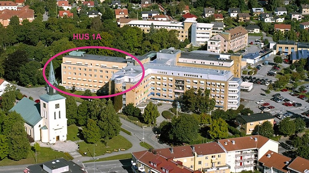 Ljungby lasarett - flygbild.