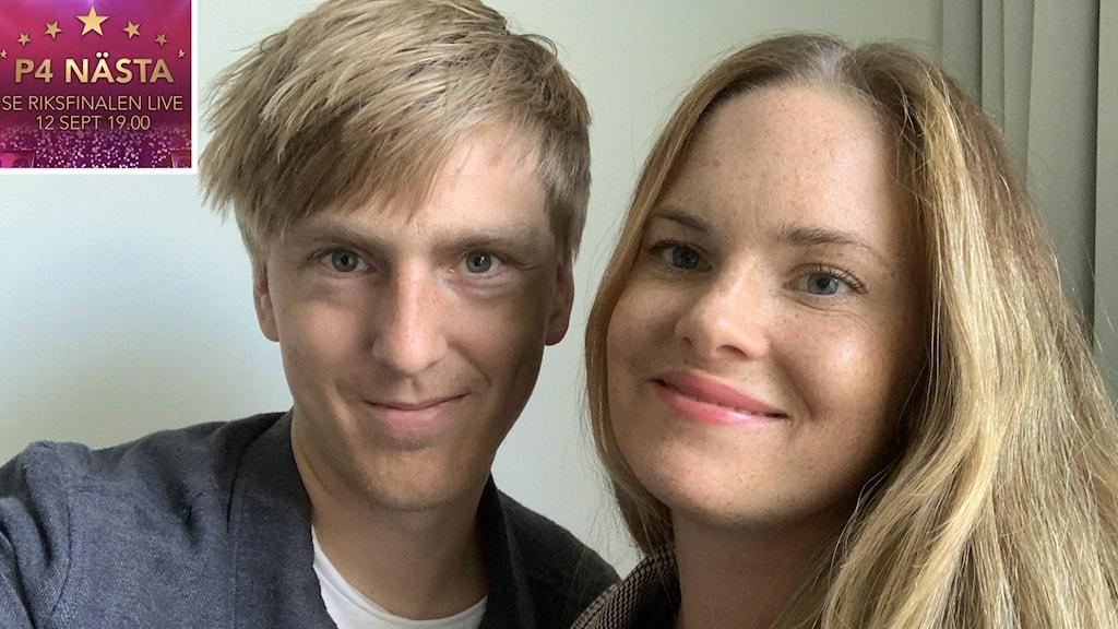 Hilde Schotte från Linneryd tävlar med sin man Erik Lundahl för Malmöhus i P4 Nästa-finalen.