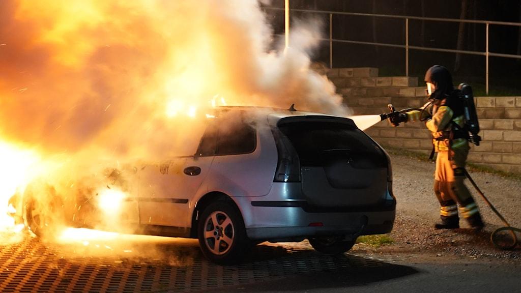Bilbrand på Teleborg