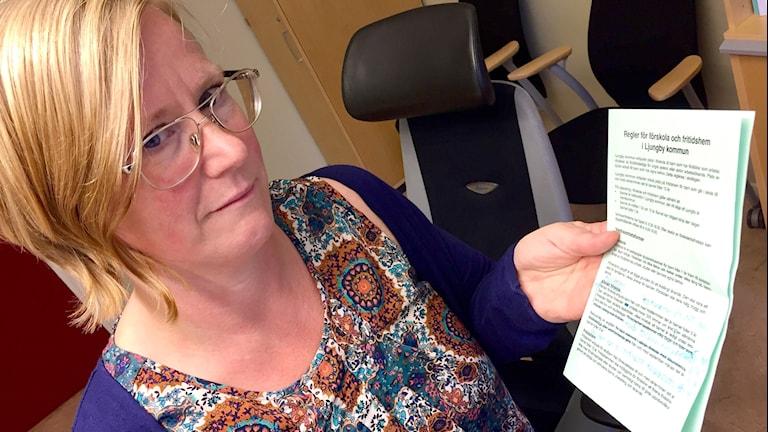 Marie Steneland, admin chef på Barn- och ungdomskontoret i Ljungby kommun.
