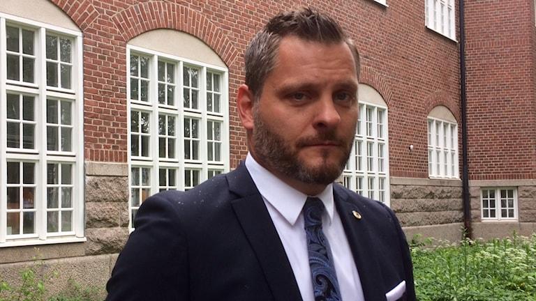 Tomas Stjernfeldt, vice ordförande i Polisförbundet Region syd