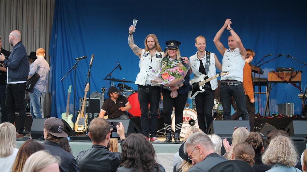 Frontback vann Kronobergsfinalen av P4 Nästa 2017.