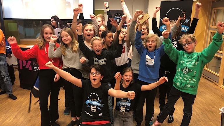 Vinnarna av kvartsfinal 4 är Bäckaslövskolan 5C